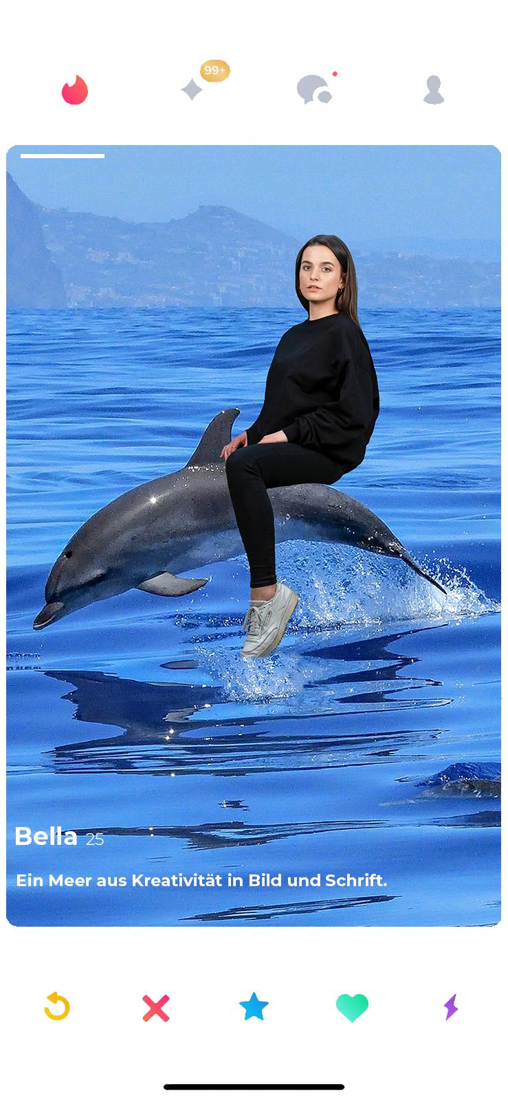 bella tinder delfin